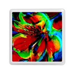 Flowers With Color Kick 1 Memory Card Reader (square)