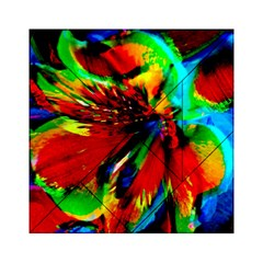 Flowers With Color Kick 1 Acrylic Tangram Puzzle (6  X 6 )
