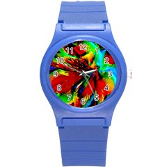 Flowers With Color Kick 1 Round Plastic Sport Watch (s)