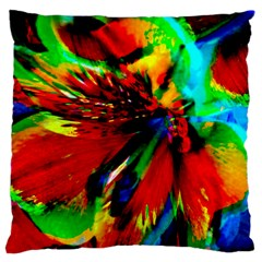 Flowers With Color Kick 1 Large Cushion Case (one Side)