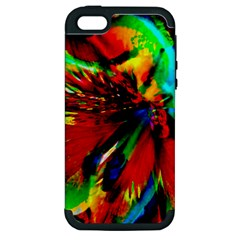 Flowers With Color Kick 1 Apple Iphone 5 Hardshell Case (pc+silicone)