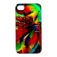 Flowers With Color Kick 1 Apple Iphone 4/4s Hardshell Case With Stand