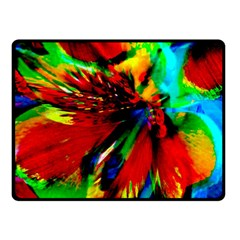 Flowers With Color Kick 1 Double Sided Fleece Blanket (small)