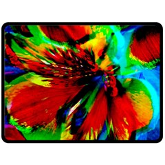 Flowers With Color Kick 1 Double Sided Fleece Blanket (large)