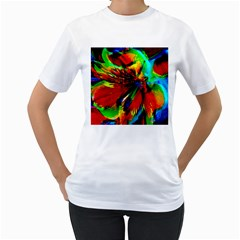 Flowers With Color Kick 1 Women s T Shirt (white)