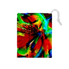 Flowers With Color Kick 1 Drawstring Pouches (medium)