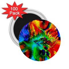 Flowers With Color Kick 2 2 25  Magnets (100 Pack)