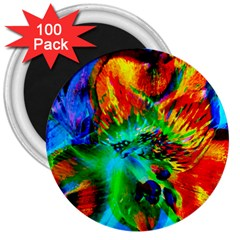 Flowers With Color Kick 2 3  Magnets (100 Pack)
