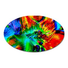 Flowers With Color Kick 2 Oval Magnet