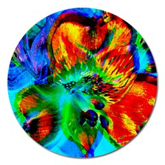 Flowers With Color Kick 2 Magnet 5  (round)