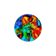 Flowers With Color Kick 2 Golf Ball Marker