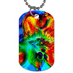 Flowers With Color Kick 2 Dog Tag (two Sides)