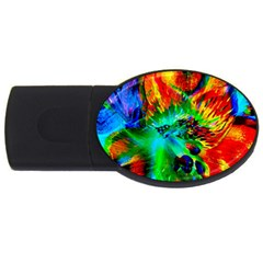 Flowers With Color Kick 2 Usb Flash Drive Oval (2 Gb)