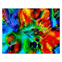 Flowers With Color Kick 2 Rectangular Jigsaw Puzzl