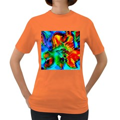 Flowers With Color Kick 2 Women s Dark T Shirt