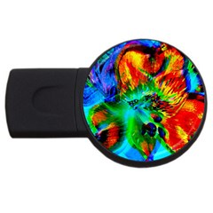 Flowers With Color Kick 2 Usb Flash Drive Round (4 Gb)