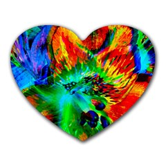 Flowers With Color Kick 2 Heart Mousepads