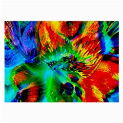 Flowers With Color Kick 2 Large Glasses Cloth (2 Side)