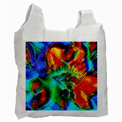 Flowers With Color Kick 2 Recycle Bag (two Side)