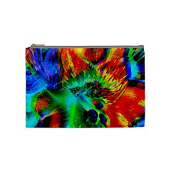 Flowers With Color Kick 2 Cosmetic Bag (medium)