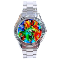 Flowers With Color Kick 2 Stainless Steel Analogue Watch