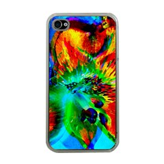 Flowers With Color Kick 2 Apple Iphone 4 Case (clear)