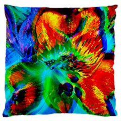 Flowers With Color Kick 2 Large Cushion Case (one Side)