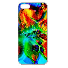 Flowers With Color Kick 2 Apple Seamless Iphone 5 Case (clear)