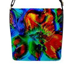 Flowers With Color Kick 2 Flap Messenger Bag (l)
