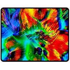 Flowers With Color Kick 2 Double Sided Fleece Blanket (medium)