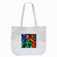 Flowers With Color Kick 2 Tote Bag (white)