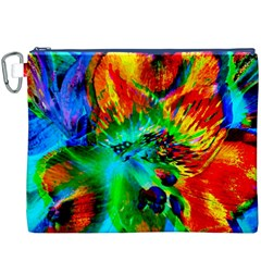 Flowers With Color Kick 2 Canvas Cosmetic Bag (xxxl)