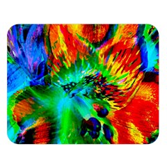 Flowers With Color Kick 2 Double Sided Flano Blanket (large)