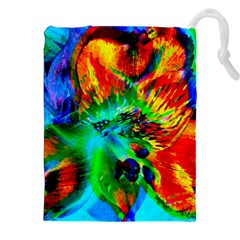 Flowers With Color Kick 2 Drawstring Pouches (xxl)