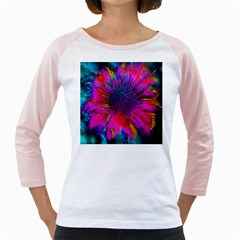 Flowers With Color Kick 3 Girly Raglans