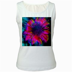 Flowers With Color Kick 3 Women s White Tank Top