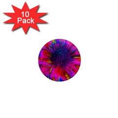 Flowers With Color Kick 3 1  Mini Magnet (10 Pack)