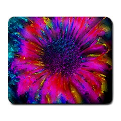 Flowers With Color Kick 3 Large Mousepads