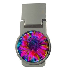 Flowers With Color Kick 3 Money Clips (round)