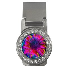 Flowers With Color Kick 3 Money Clips (cz)