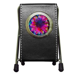 Flowers With Color Kick 3 Pen Holder Desk Clocks