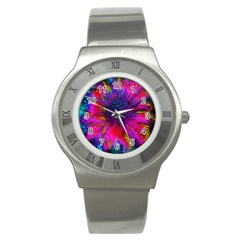 Flowers With Color Kick 3 Stainless Steel Watch