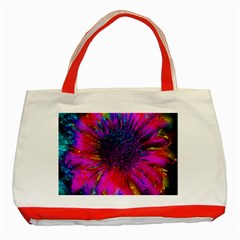 Flowers With Color Kick 3 Classic Tote Bag (red)