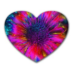Flowers With Color Kick 3 Heart Mousepads