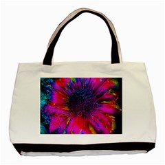 Flowers With Color Kick 3 Basic Tote Bag (two Sides)