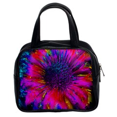 Flowers With Color Kick 3 Classic Handbags (2 Sides)
