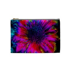 Flowers With Color Kick 3 Cosmetic Bag (medium)