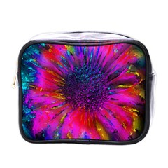 Flowers With Color Kick 3 Mini Toiletries Bags