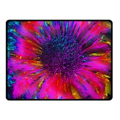 Flowers With Color Kick 3 Fleece Blanket (small)