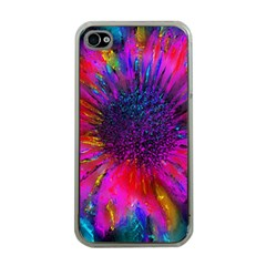 Flowers With Color Kick 3 Apple Iphone 4 Case (clear)